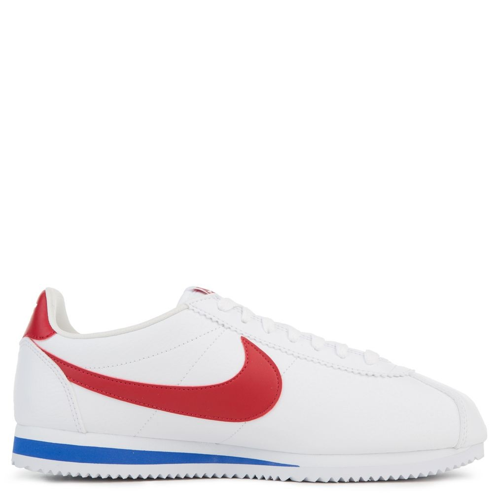 749571-154 Nike Classic Cortez Leather - Wit/Rood-Varsity Royal