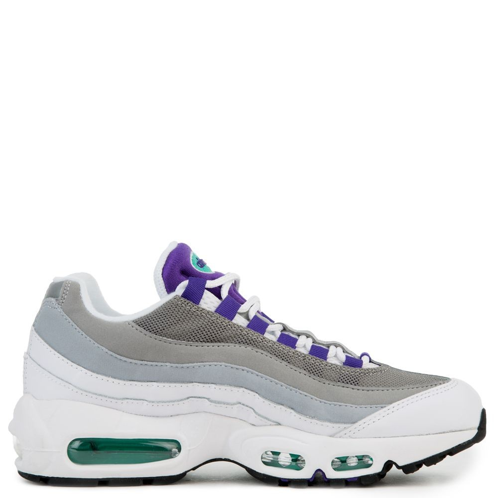 307960-109 Dames Nike Air Max 95 - Wit/Paars-Groen