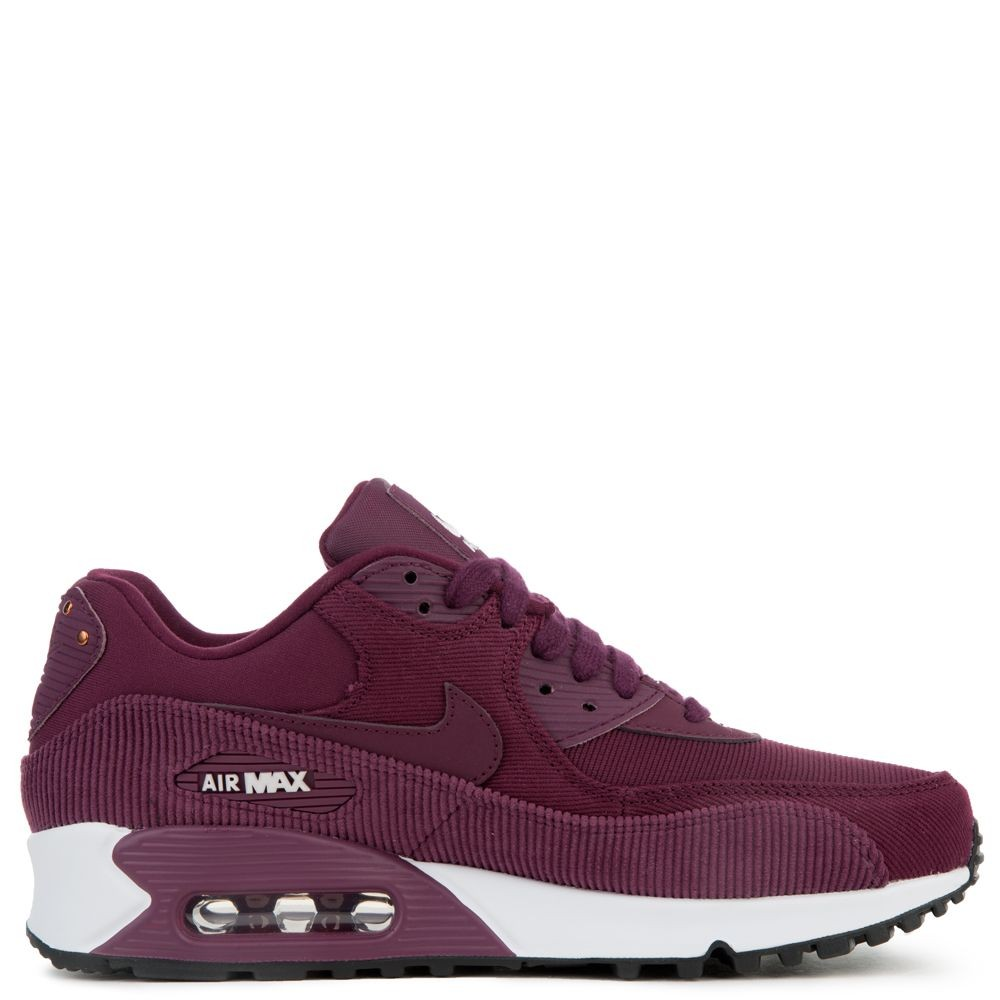921304-601 Dames Air Max 90 Leather - Donkerrood/Bordeaux