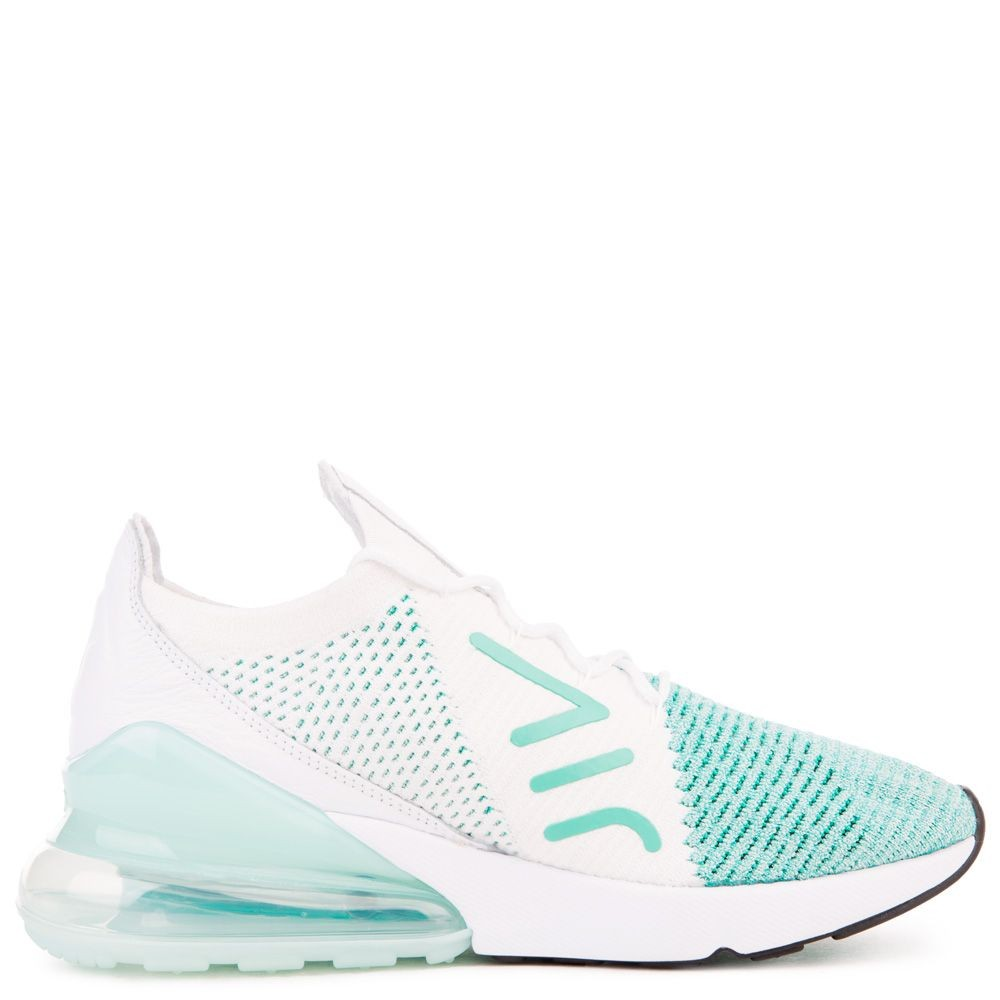 AH6803-301 Dames Nike Air Max 270 Flyknit - Igloo/Wit/Clear Emerald