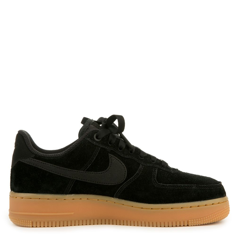 AA0287-002 Nike Air Force 1 '07 Special Edition - Zwart/Zwart-Gum Bruin