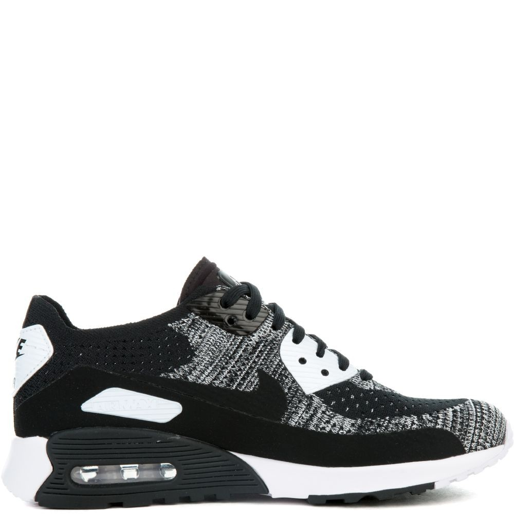 881109-002 Nike Air Max 90 Ultra 2.0 Flyknit - Zwart/Wit-Anthracite