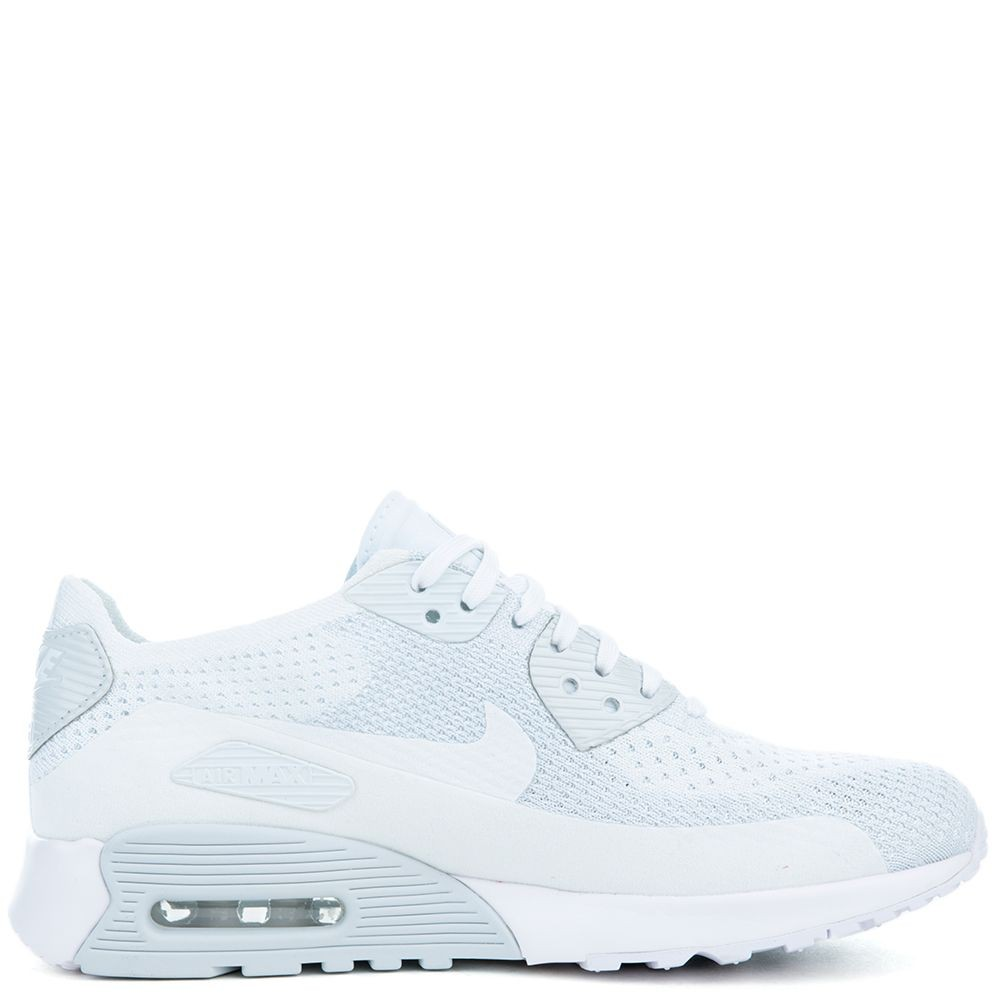 881109-104 Nike Air Max 90 Ultra 2.0 Flyknit - Wit/Wit-Pure Platinum