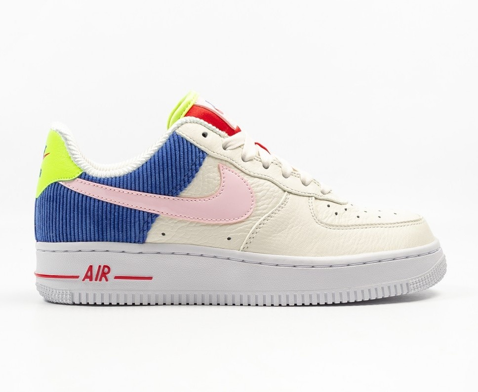 Dames Nike Air Force 1 Corduroy Pack Wit/Blauw AQ4139-101