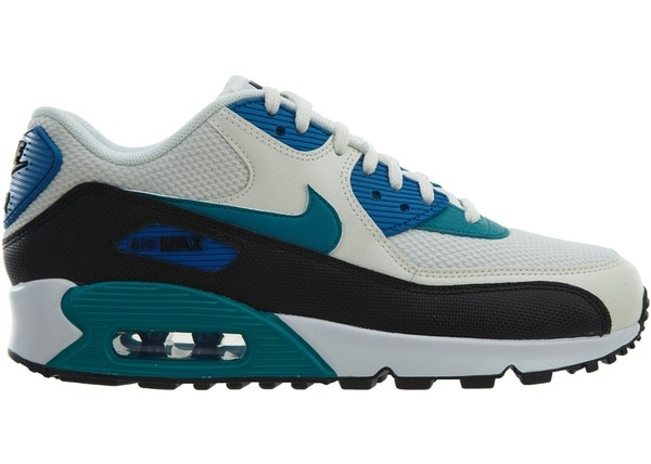 Nike Dames Air Max 90 325213-134 - Sail/Radiant Emerald-Zwart