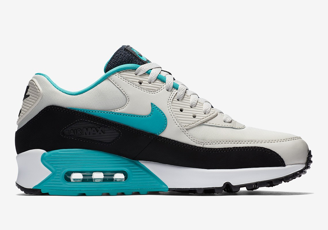 Nike Air Max 90 Essential Light Bone/Zwart/Turquoise AJ1285-001