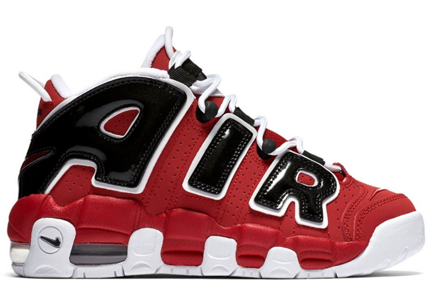 Nike Air More Uptempo GS Rood/Wit-Zwart 415082-600