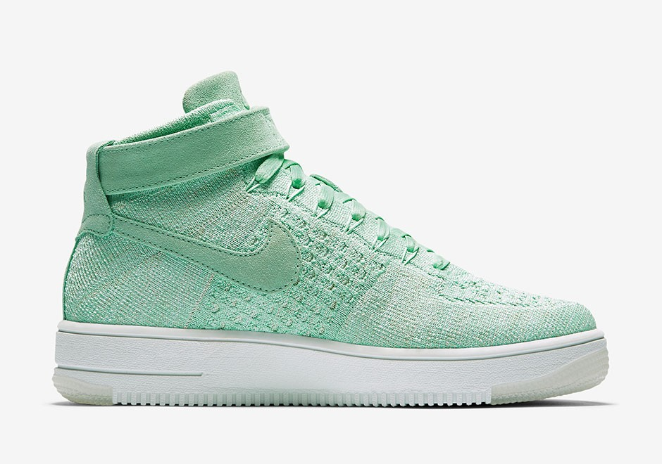 Nike Dames Air Force 1 Flyknit (Menta) Groen/Groen-Wit 818018-301