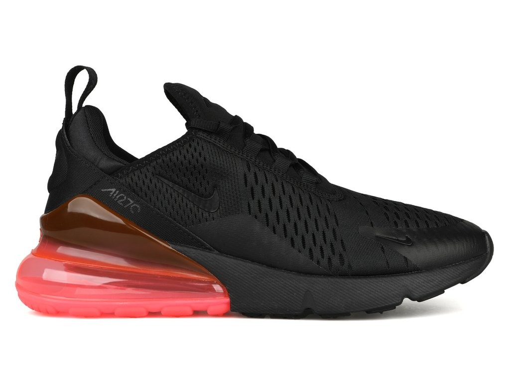 Nike Air Max 270 Zwart/Zwart-Hot Punch AH8050-010