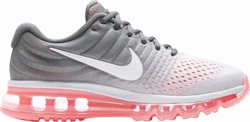 Nike Air Max 2017 Dames Schoenen Pure Platinum/Grijs/Hot Lava/Wit 849560-007