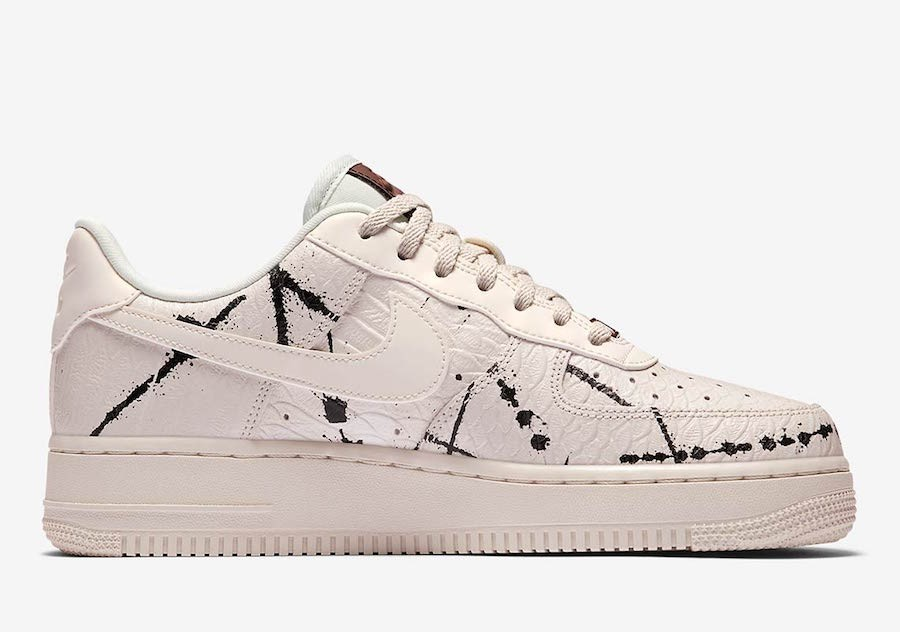 "Nike Air Force 1 Low LX ""Phantom Snakeskin"" Dames Phantom/Zwart/Wit 898889-007"