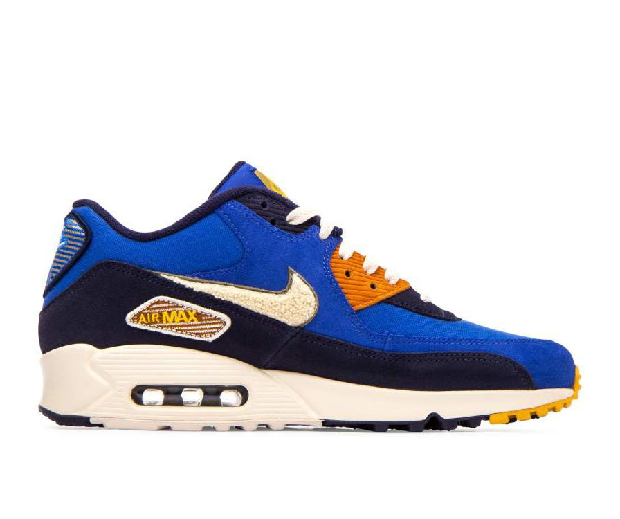 858954-400 Nike Air Max 90 Premium SE - Game Royal/Light Cream-Groen