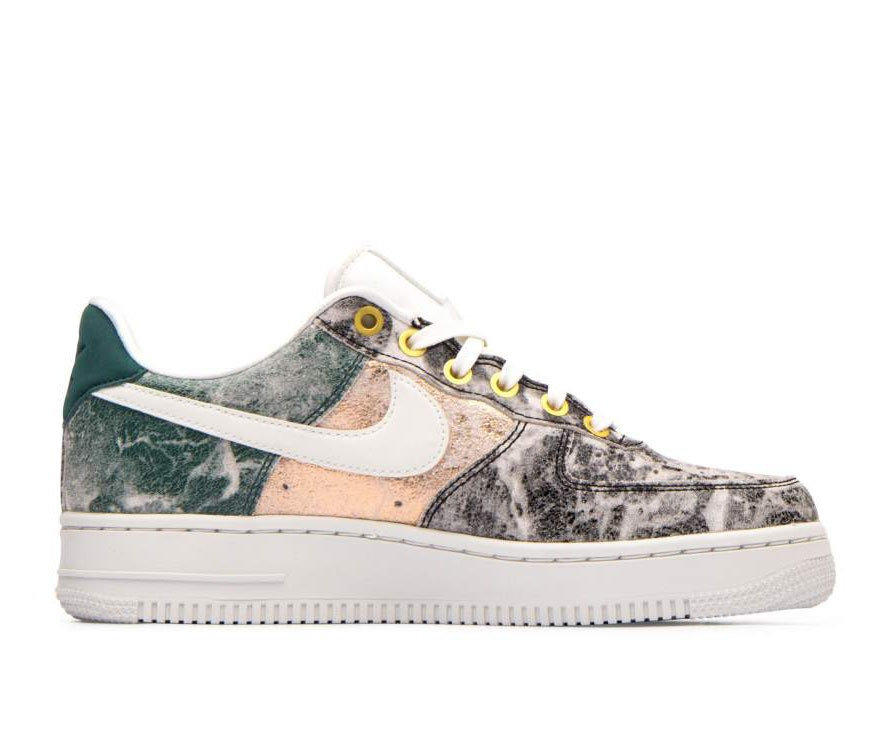 AO1017-100 Nike Dames Air Force 1 '07 LXX - Wit/Wit-Grijs