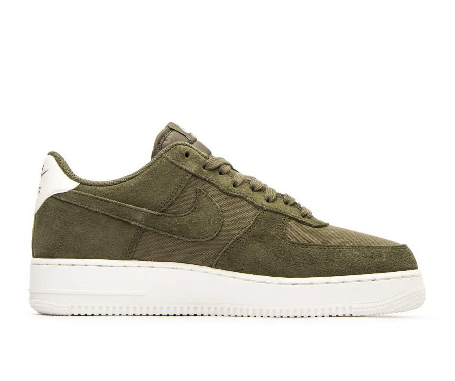 AO3835-200 Nike Air Force 1 '07 Suede - Olive/Olive-Sail