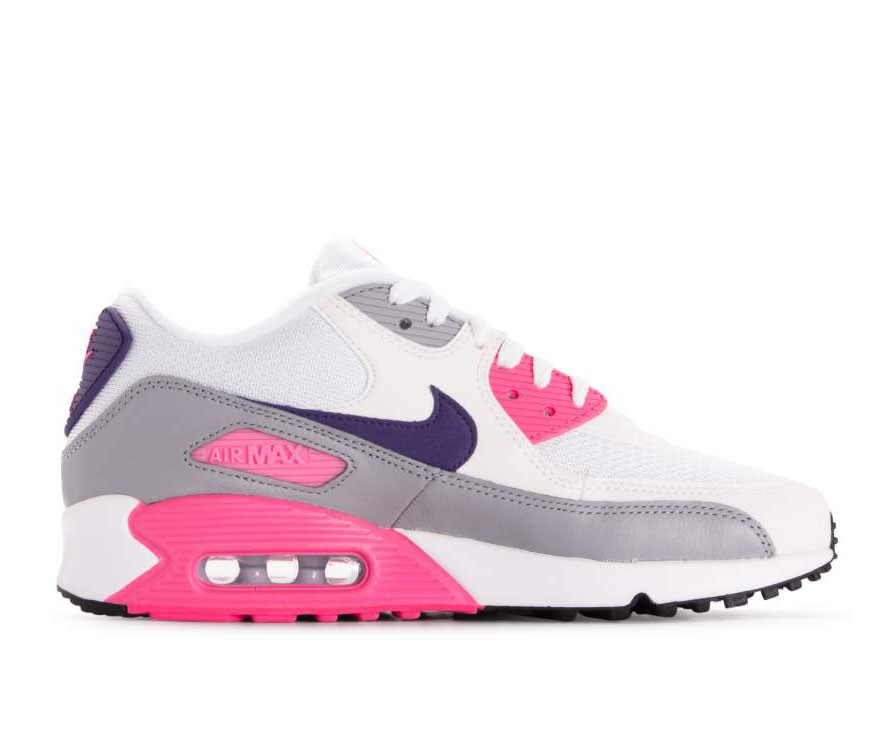 325213-136 Nike Dames Air Max 90 - Wit/Paars-Grijs-Roze