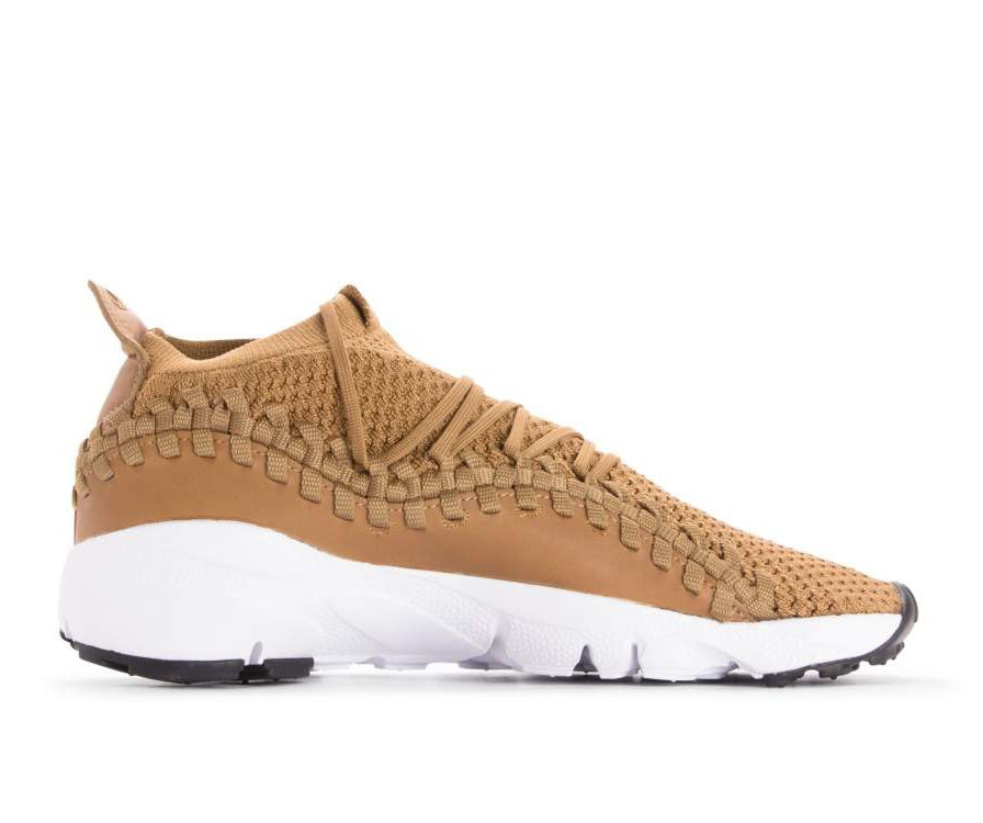 AO5417-200 Nike Air Footscape Woven NM Flyknit - Golden Beige/Beige-Zwart-Wit