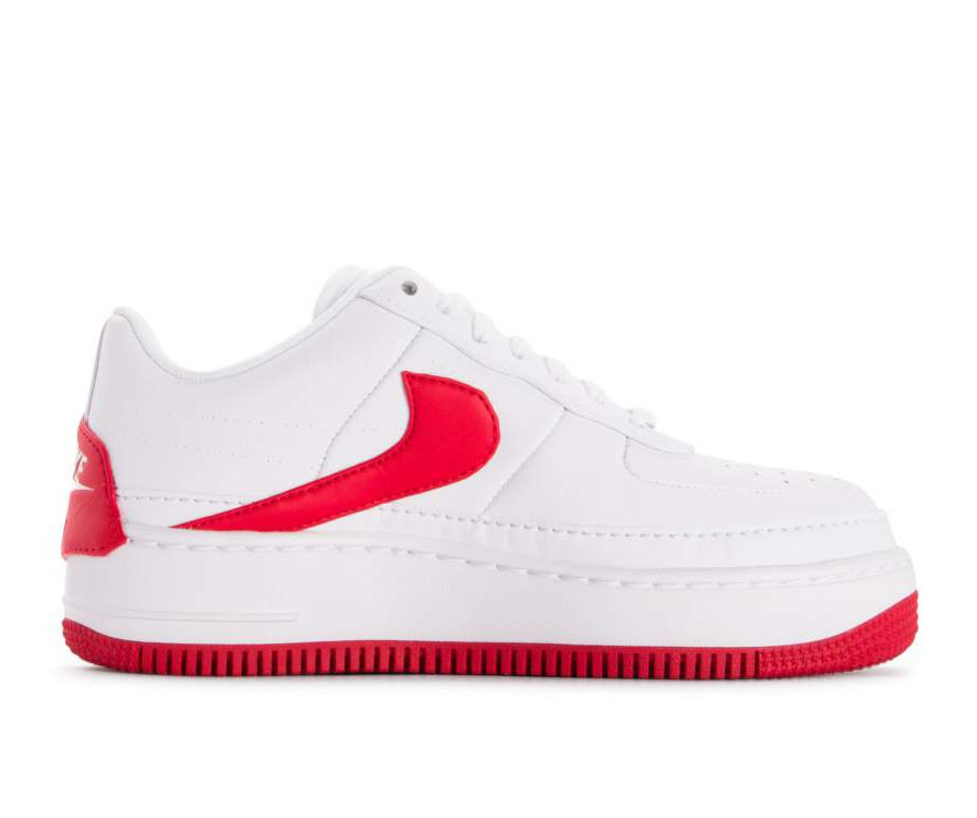AO1220-106 Nike Dames Air Force 1 Jester XX - Wit/Rood