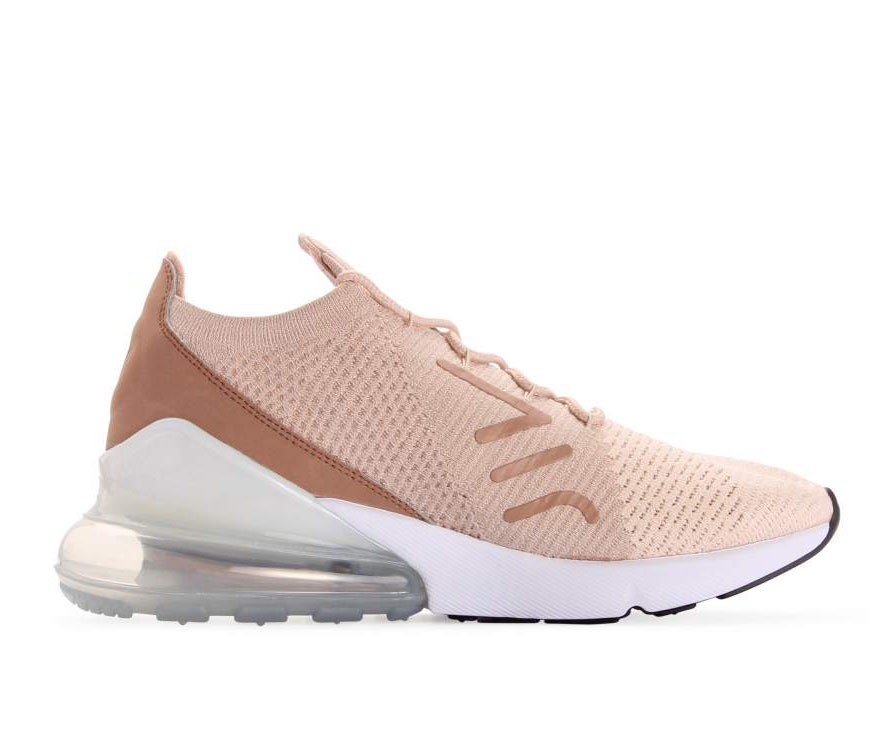 AH6803-801 Nike Dames Air Max 270 Flyknit - Guava Ice/Beige-Desert Dust