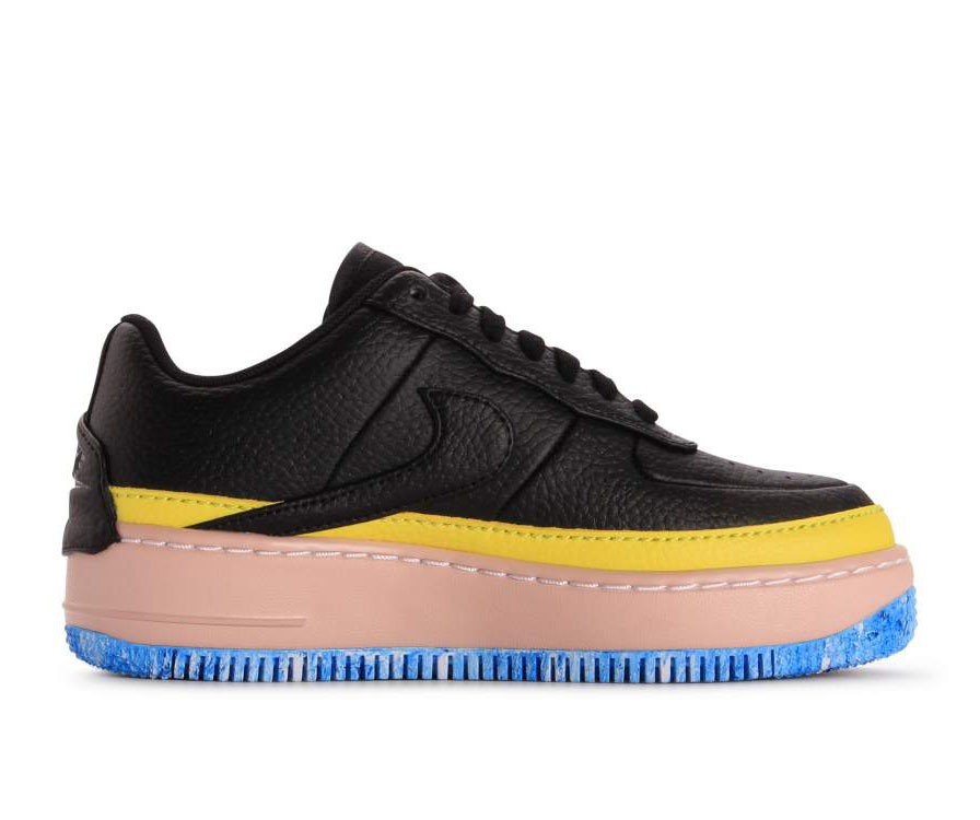 AT2497-001 Nike Dames Air Force 1 Jester XX SE - Zwart/Geel-Oranje