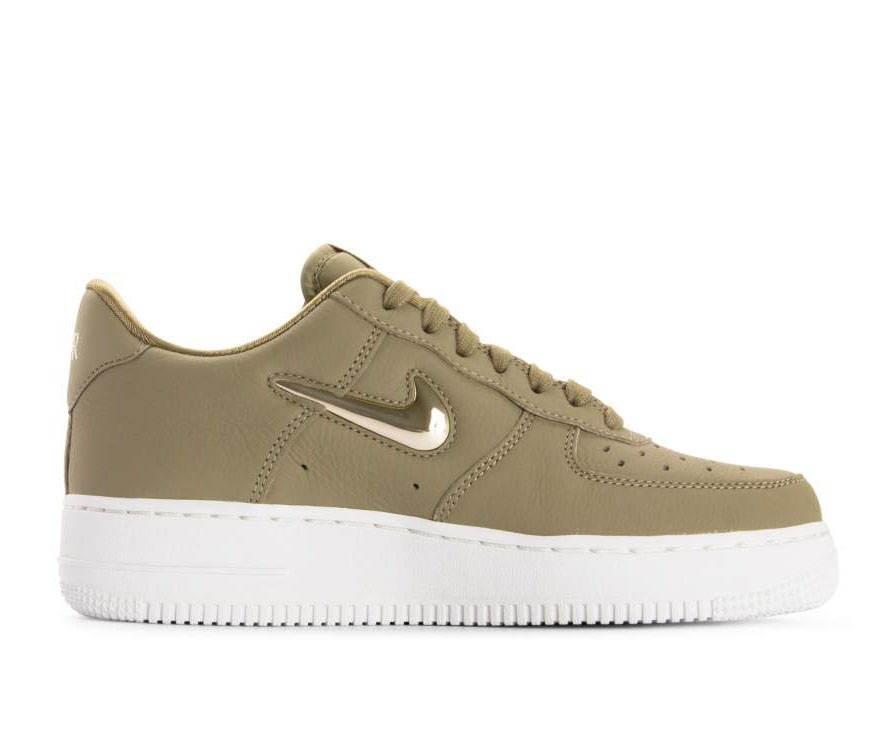 AO3814-200 Nike Dames Air Force 1 '07 Premium LX - Olive/Metallic Gold-Metallic Bronze