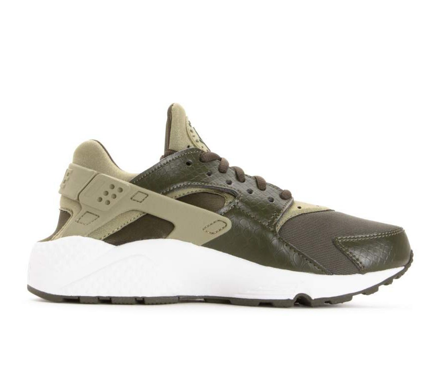 634835-201 Nike Dames Air Huarache Run - Olive/Wit