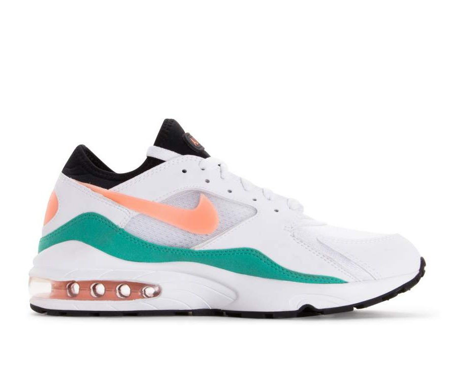 306551-105 Nike Air Max 93 - Wit/Crimson Bliss/Groen/Zwart