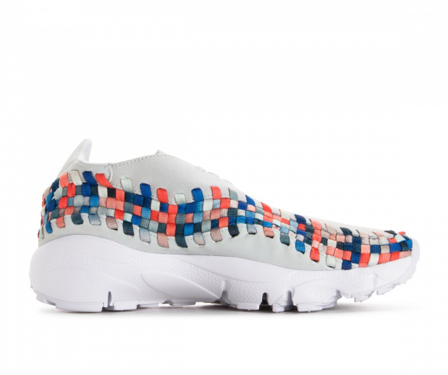 917698-201 Nike Dames Air Footscape Woven - Moon Particle/Grijs/Deep Jungle