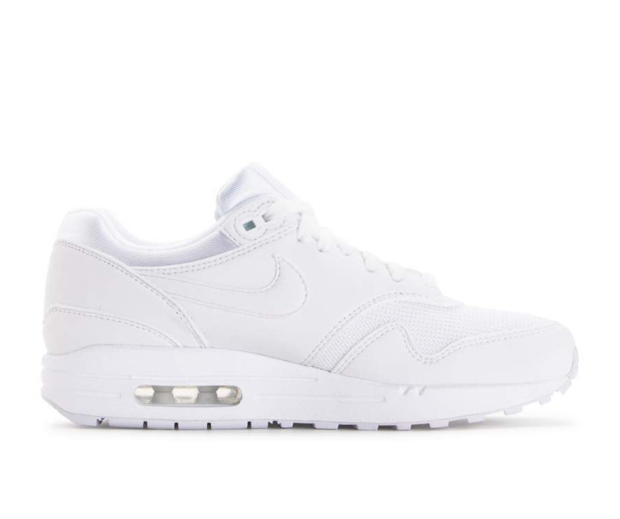 319986-108 Nike Dames Air Max 1 Schoenen - Wit/Wit-Pure Platinum