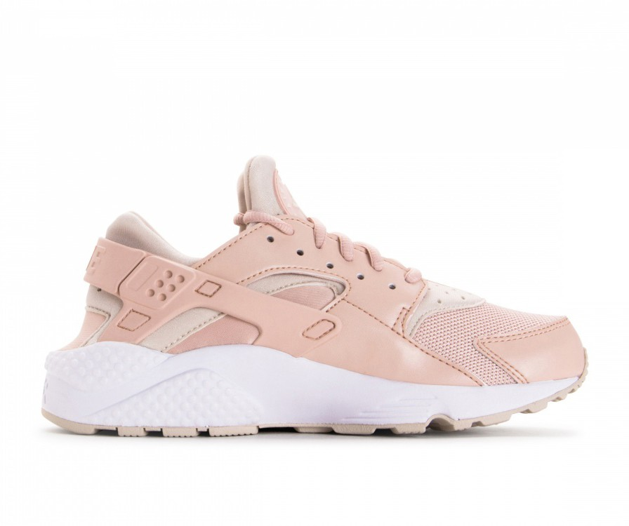 634835-202 Nike Dames Air Huarache Run - Beige/Desert Sand/Wit