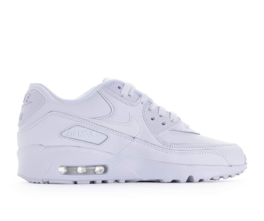 833412-100 Nike Air Max 90 Leather GS Schoenen - Wit/Wit