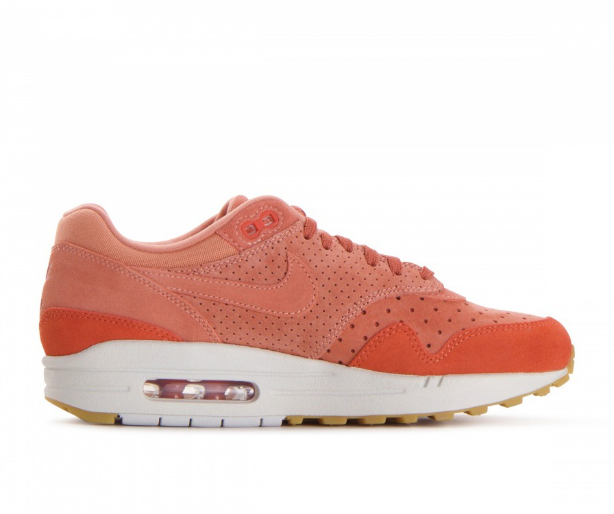 454746-603 Nike Dames Air Max 1 Premium Schoenen - Crimson Bliss/Crimson Bliss