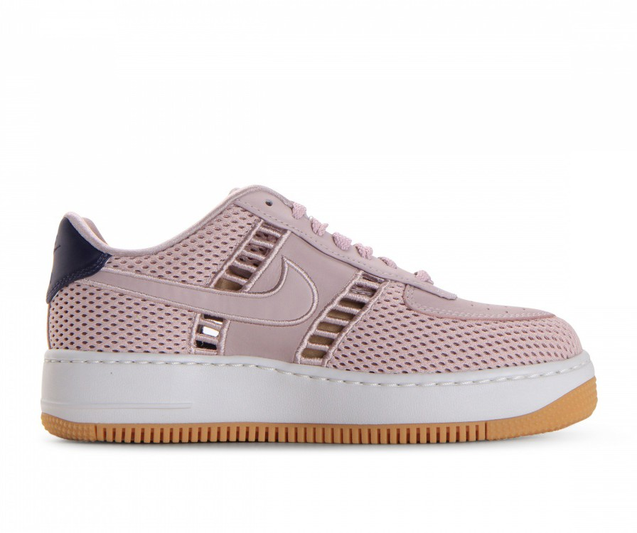 917591-600 Nike Dames Air Force 1 Upstep SI - Particle Rose/Particle Rose/Wit