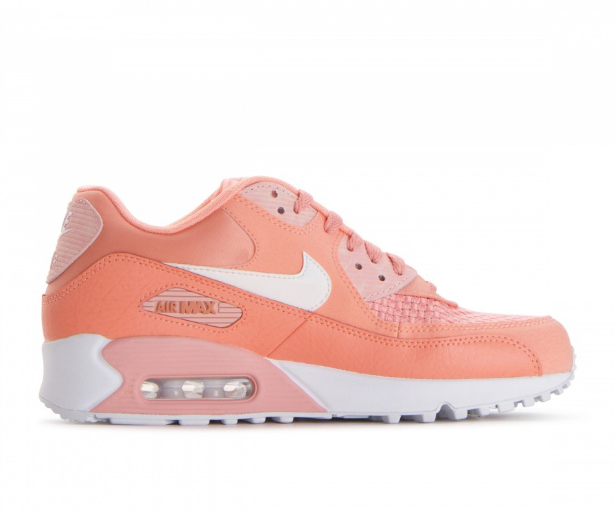 881105-604 Nike Dames Air Max 90 SE - Crimson Bliss/Wit/Coral Stardust