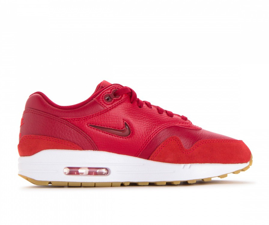 AA0512-602 Nike Dames Air Max 1 Premium SC - Gym Rood/Gym Rood-Rood