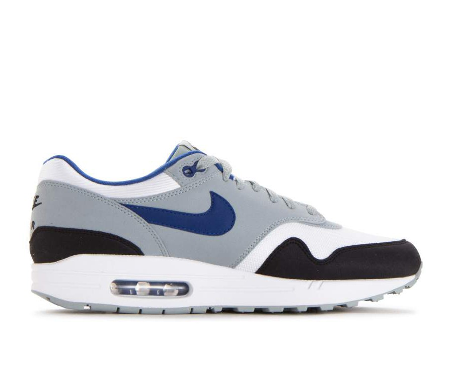 AH8145-102 Nike Air Max 1 - Wit/Gym Blauw-Light Pumice-Zwart