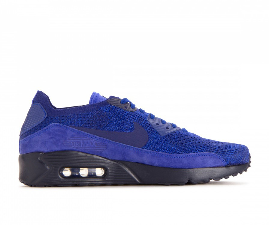 875943-402 Nike Air Max 90 Ultra 2.0 Flyknit - Blauw/Deep Royal-Blauw-Blauw