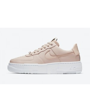 CK6649-200 Nike Dames Air Force 1 Pixel - Beige/Beige-Zwart