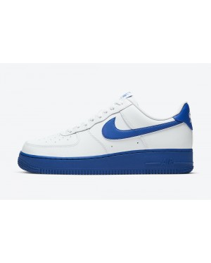 CK7663-103 Nike Air Force 1 Low Heren Schoenen - Wit/Royal