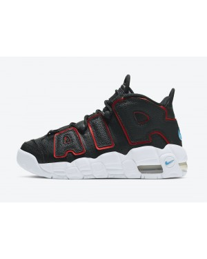 DJ4610-001 Nike Air More Uptempo GS - Zwart/Wit-Rood