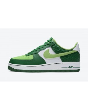 "DD8458-300 Nike Air Force 1 ""St. Patrick's Day"" - Groen/Wit-Goud"