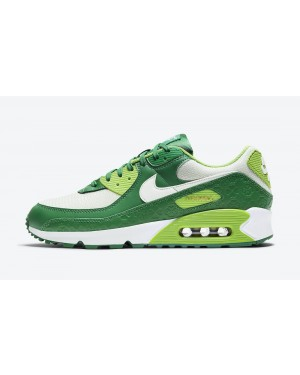 """DD8555-300 Nike Air Max 90 """"St. Patrick's Day"""" - Wit/Groen-Goud"""