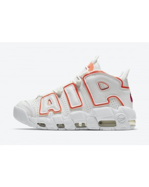 "DH4968-100 Nike Air More Uptempo ""Sunset"" - Wit/Oranje"
