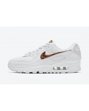 "DH4115-100 Nike Air Max 90 Dames ""Leopard"" - Wit/Wit-Wit"