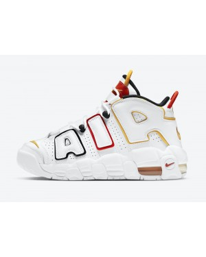 "DD9282-100 Nike Air More Uptempo GS ""Raygun"" - Wit/Zwart-Rood"