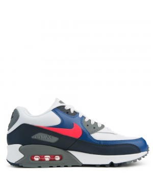 537384-135 Nike Air Max 90 Essential - Wit/Rood/Obsidian