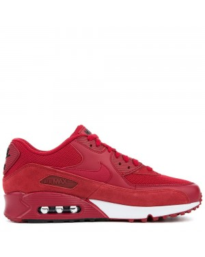 537384-604 Nike Air Max 90 Essential - Gym Rood/Gym Rood-Zwart-Wit