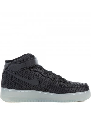 804609-005 Nike Air Force 1 Mid '07 LV8 - Zwart/Zwart-Wit-Metallic Silver