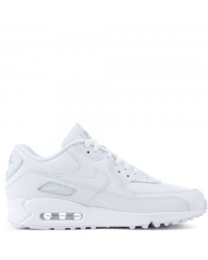 302519-113 Heren Nike Air Max 90 Leather Schoenen - Wit/Wit
