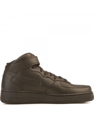 315123-001 Heren Nike Air Force 1 Mid '07 - Zwart/Zwart
