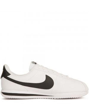 819719-100 Heren Nike Cortez Basic Leath - Wit/Zilver/Zwart